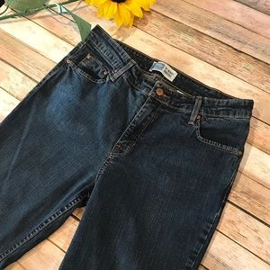 Levi's Size 12 Short At Waist Bootcut Blue Jeans